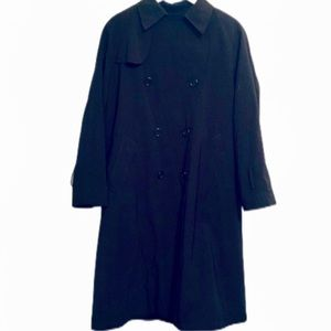 Vintage Drizzle black double breasted wool jacket